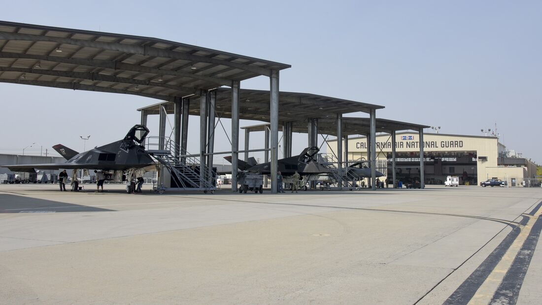 144th Fighter Wing Welcomes F-117s to Train with F-15s