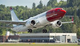 2017-05-25 Norwegian MAX NBE 6360 B2 Flight Takeoff & Landing