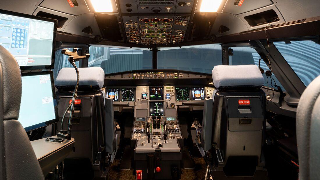 A320-Simulator von Lufthansa Aviation Training.