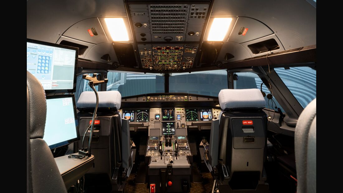 A320-Simulator von Lufthansa Aviation Training.