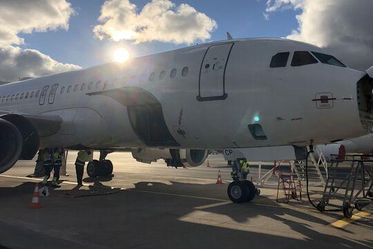 APOC lässt eine ausgemusterte A320 durch EFW in Rothenburg/Görlitz ausschlachten.