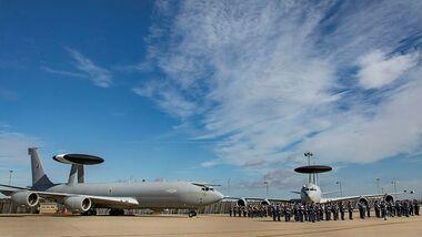 Abschiedsparade für die Boeing E-3D der RAF in Waddington.