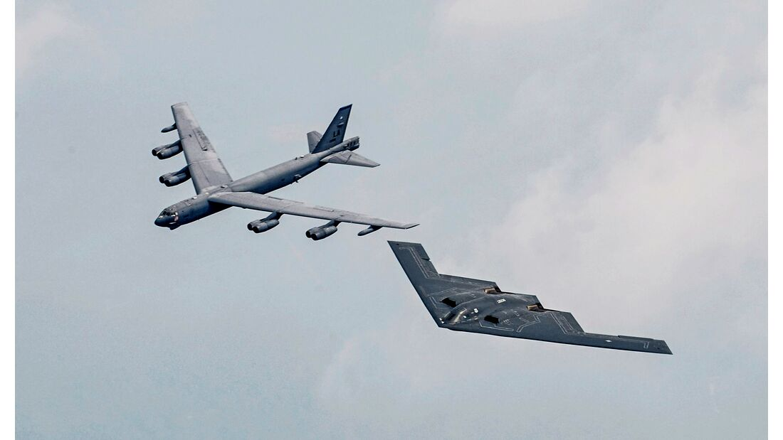 Air Force Global Strike Command officials assume B-52, B-2 mission