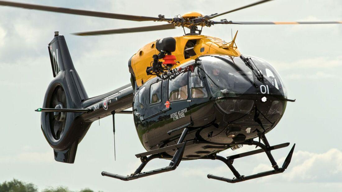Airbsu Helicopters H145 Jupiter HT1 für die britische Militärpilotenausbildung.