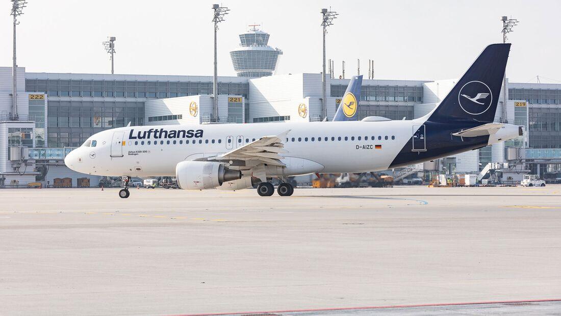 Airbus A320-200 der Lufthansa in München.