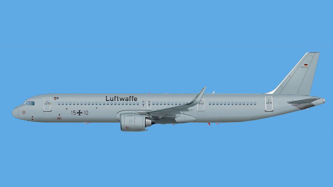 Airbus A321LR für die Flugbereitschaft.