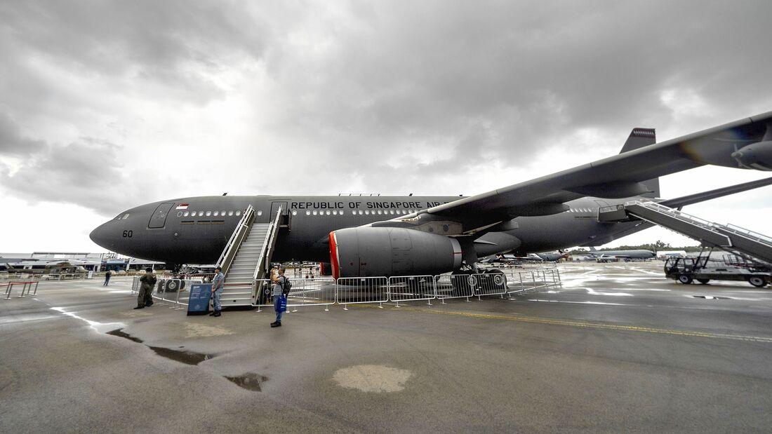Airbus A330 MRTT der RSAF auf der Singapore Airshow.