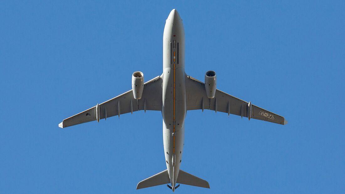 Airbus A330 MRTT des multinationalen Verbands in Eindhoven.
