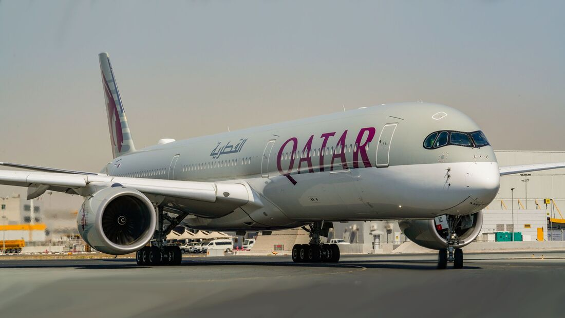 Airbus A350 von Qatar Airways.