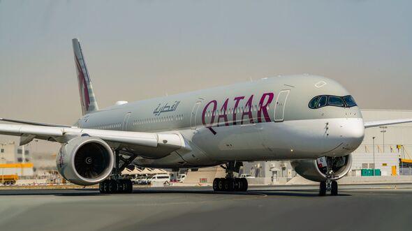 Airbus A350 von Qatar Airways.