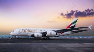 Airbus A380 von Emirates.