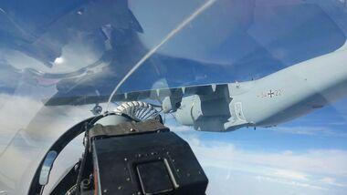 Airbus A400M der Luftwaffe als Tanker in Jordanien.