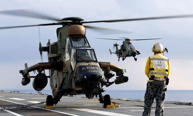 Airbus Helicopters Tiger des australischen Heeres auf der MHAS Canberra