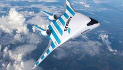 Airbus MAVERIC-Konzept für ein Blended-Wing-Body-Verkehrsflugzeug.
