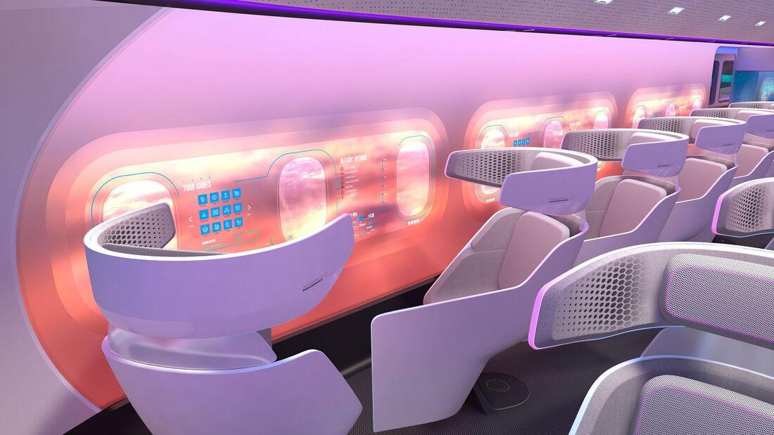 Airbus Maveric-Konzept für ein zukünftiges Verkehrsflugzeug.