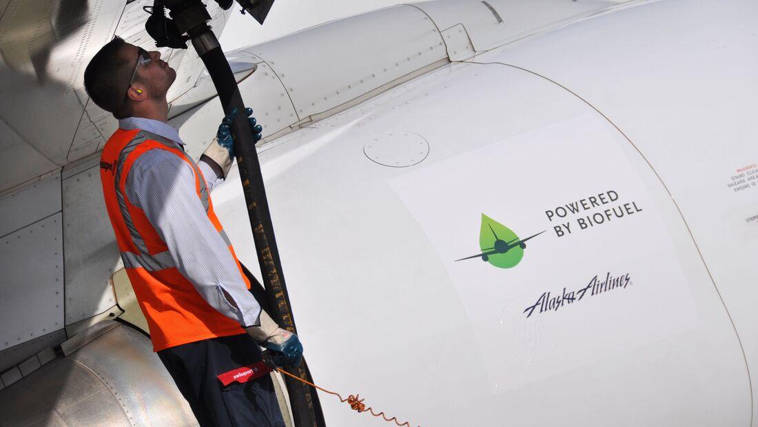 Alaska Airlines Biofuel-Betankung