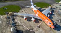 All Nippon Airways hat im Oktober 2021 ihre letzte A380 im Schildkröten-Design übernommen.