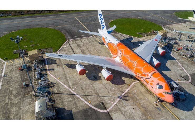 """""""Schildkröte"""" fliegt von Toulouse nach Tokio-Narita: Drittletzte A380 geht an ANA"""