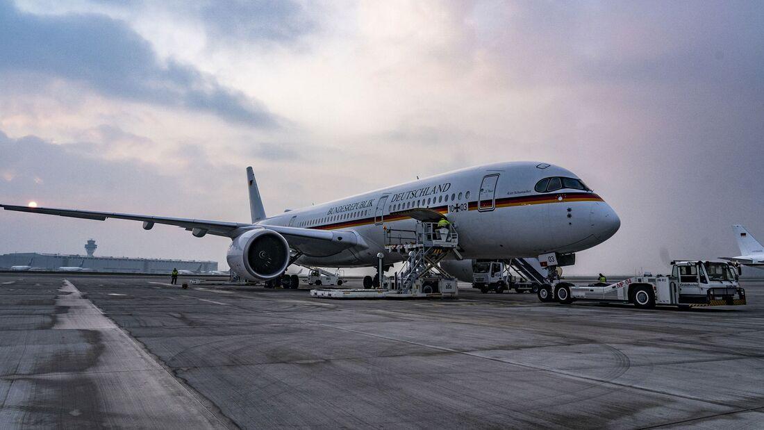 Am 1. Mai startete ein Airbus A350 der Flugbereitschaft mit Beatmungsgeräten von Köln-Wahn nach Neu-Delhi.