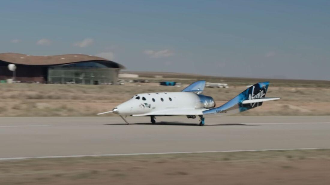 Am 22. Mai 2021 gelang dem SpaceShipTwo der dritte Flug in Weltraum-Höhen, diesmal vom Spaceport America in New Mexico aus.
