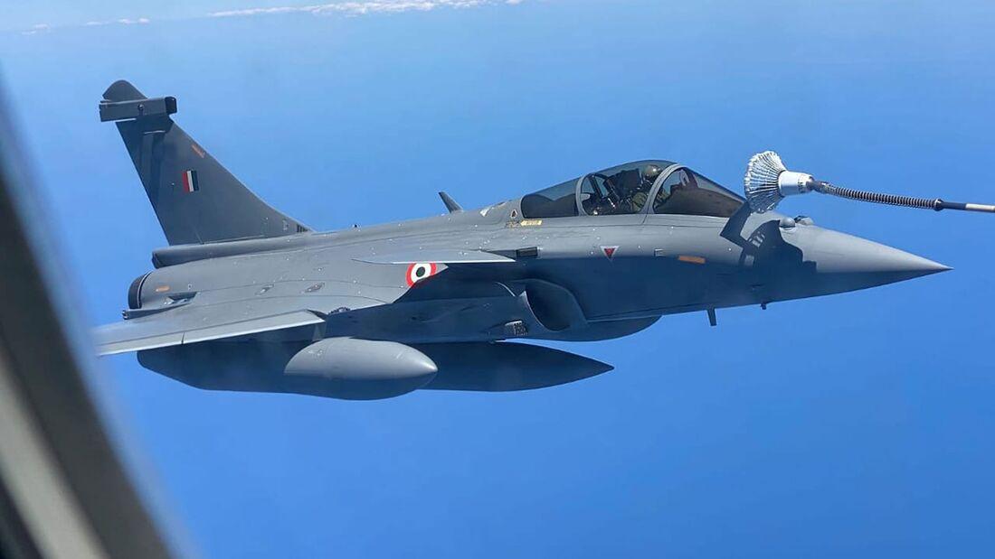 Am 27. Juli 2020 starteten die ersten fünf Dassault Rafale für Indien in Bordeaux-Merignac zum Überführungsflug nach Ambala.