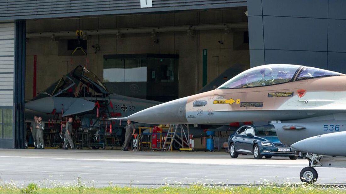 Am Montag trafen die israelischen F-16 in Nörvenich ein.