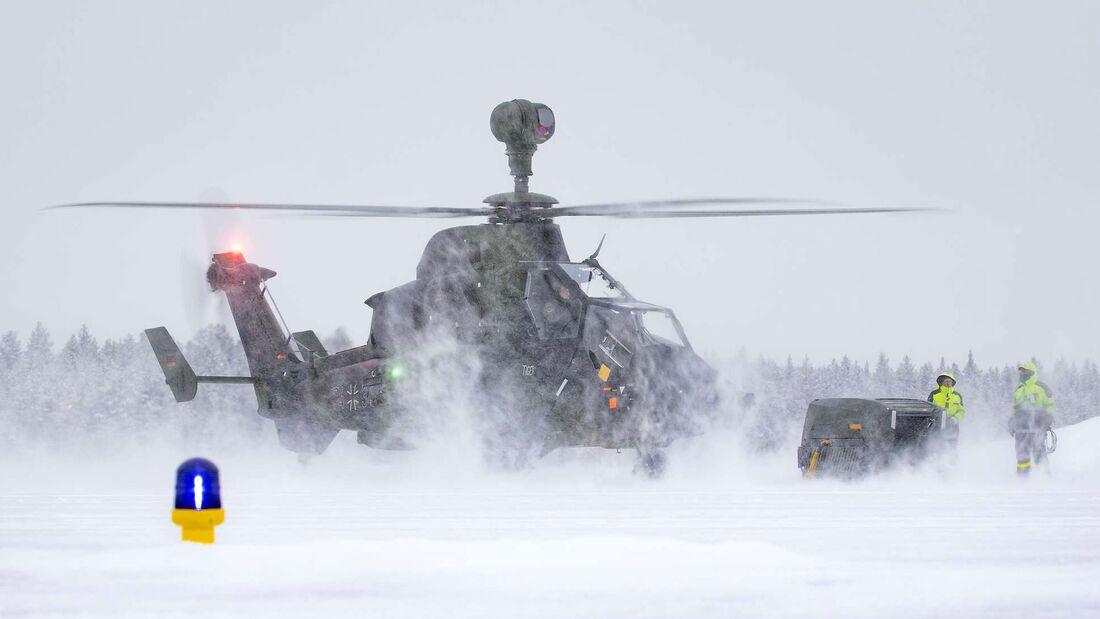 Arctic Trial mit Tiger und NH90 der Heeresflieger