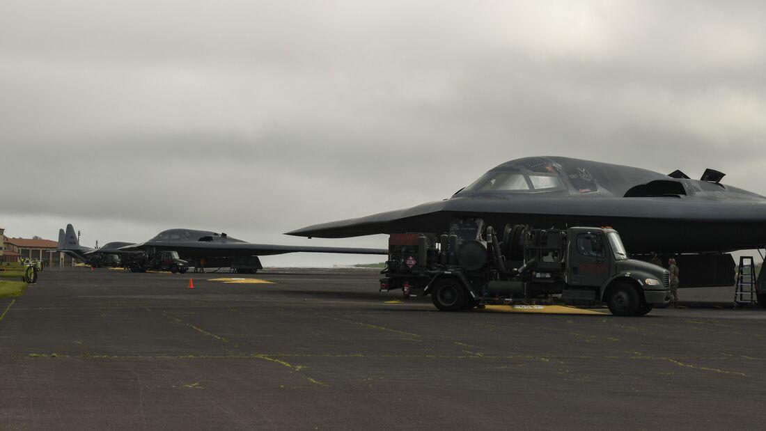 B-2 Spirit arrives at Lajes Field, Azores