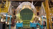 Bei Lockheed Martin in Marietta entsteht die erste C-130J Hercules für die Luftwaffe.