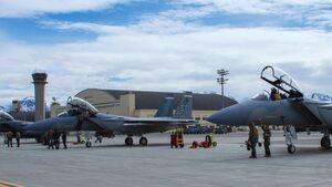 """Beide bisher gelieferten Boeing F-15EX nahmen Anfang Mai 2021 an """"Northern Edge"""" in Alaska teil."""