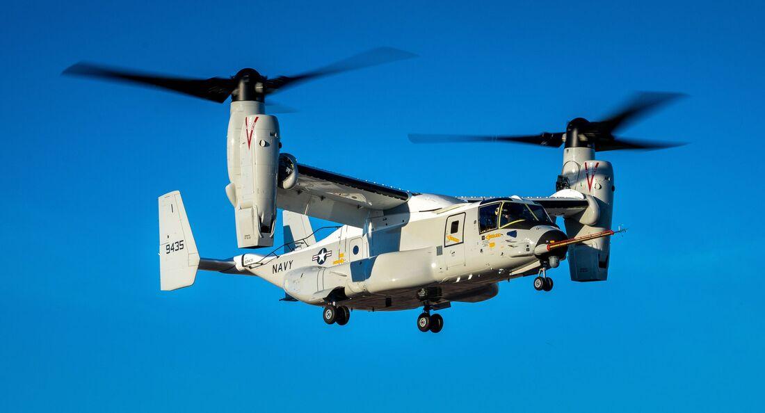 Bell Boeing CMV-22B Osprey beim Erstflug.