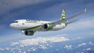 Boeing 737-8 in den fiktiven Farben der Leasingfirma Avalon.