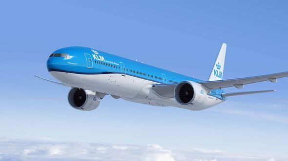 Boeing 777-300ER in KLM-Farben.