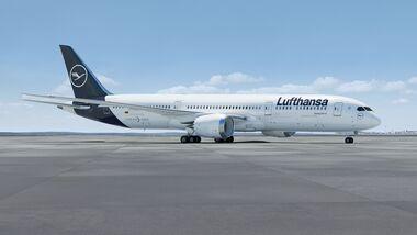 Boeing 787-9 in Lufthansa-Farben.