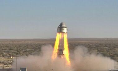 Boeing CTS-100 Staliner Startabbruchtest in New Mexico.