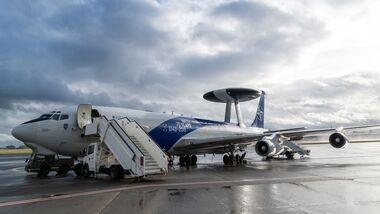 Boeing E-3A AWACS der NATO mit Sonderanstrich 70 Jahre NATO.
