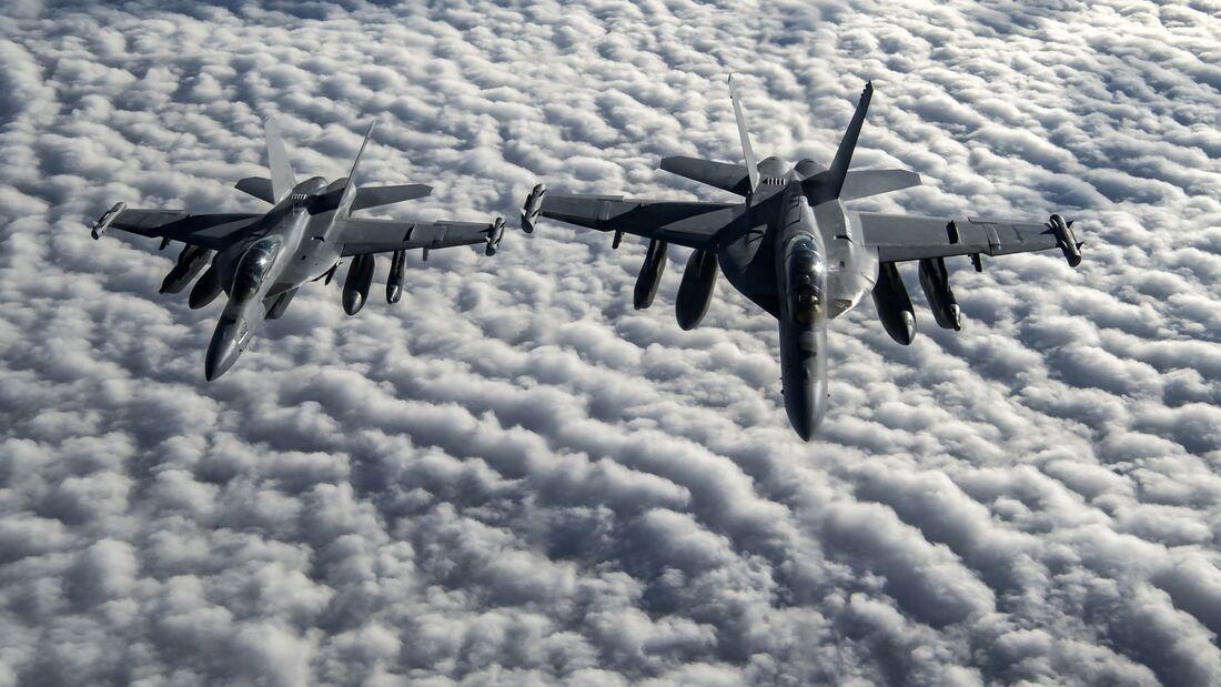 Boeing EA-18G Growler über Afghanistan.