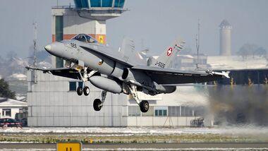 Boeing F/A-18C der Schweizer Luftwaffe.
