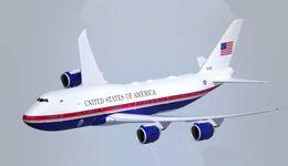 Boeing VC-25B, die neue Air Force One für den amerikanischen Präsidenten.
