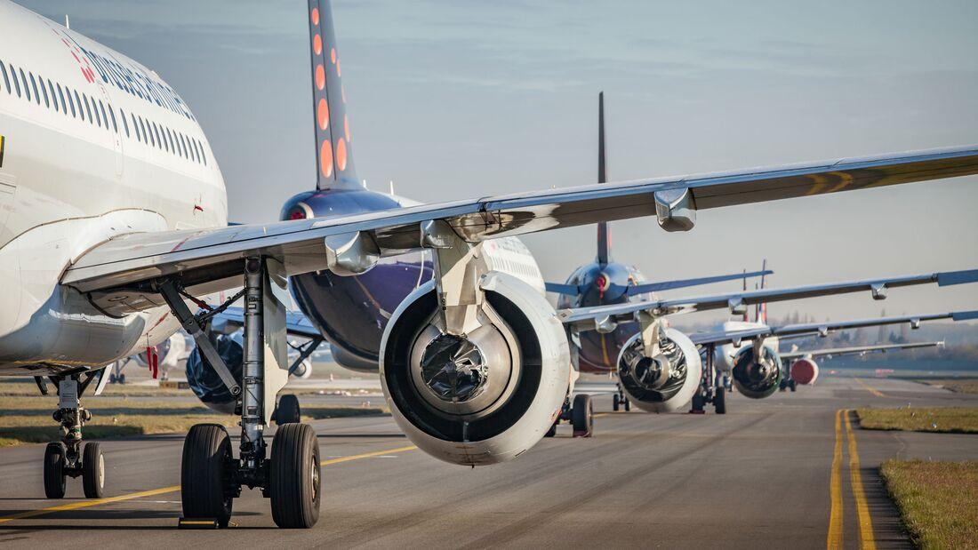 Brussels Airlines hat seine Flugzeuge abgestellt.