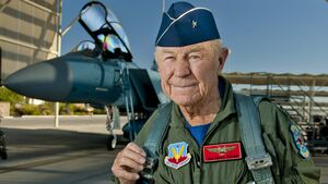 Chuck Yeager commemorates historic flight