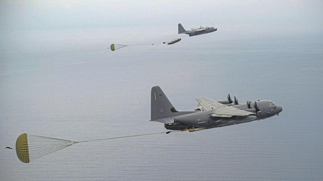 Commando II and Combat Talon II complete MCADS drop together