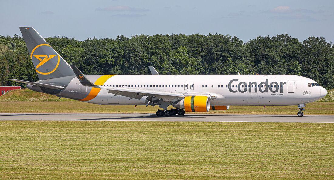 Condor fliegt mit Boeing 767-300 nach New York.