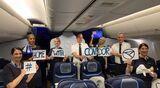 Condor flog am 5. April mit einer 767 nach Christchurch in Neuseeland, um gestrandete deutsche Touristen abzuholen.