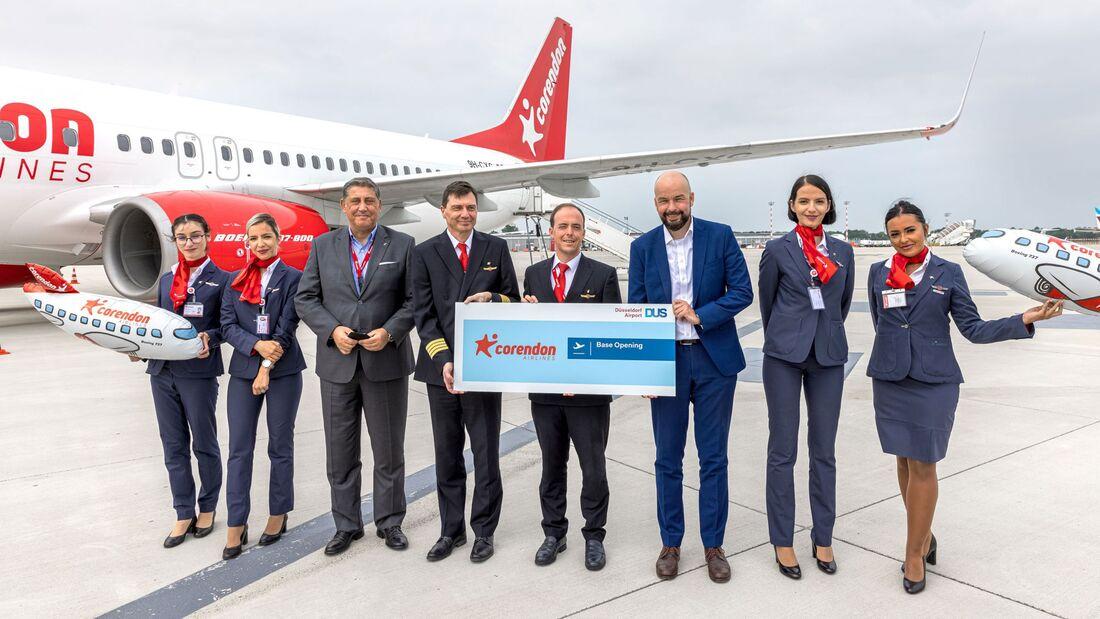 Corendon hat in Düsseldorf eine neue Basis mit zunächst einer Boeing 737 eröffnet.