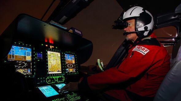 DRF Luftrettung: Nachtflug