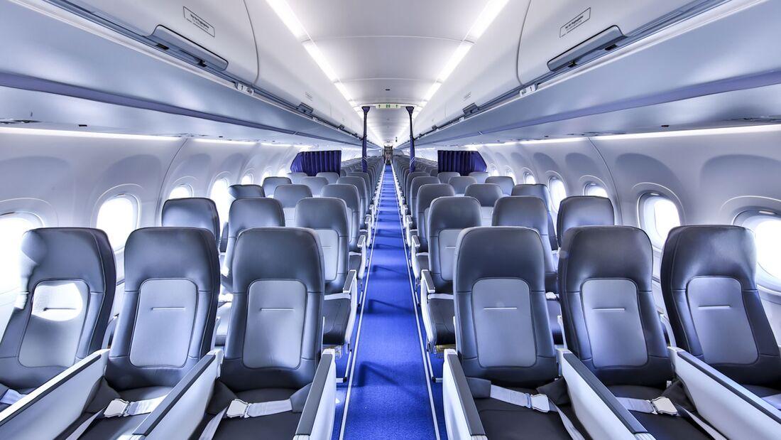 Das Airspace-Kabinenlayout bei Lufthansa.
