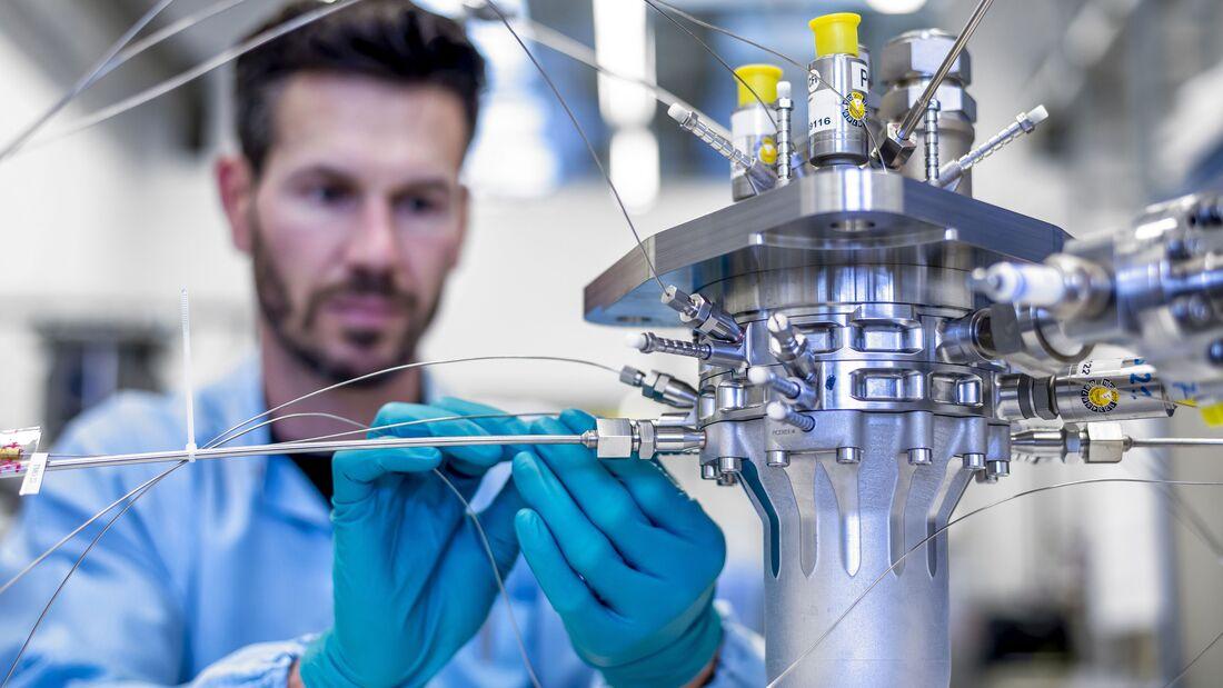 Das Triebwerk BERTA wurde im 3D-Druckverfahren hergestellt.