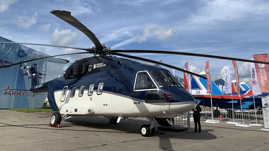 Das russische Verteidigungsministerium hat zwei Mi-38 mit VIP-Kabine bestellt.