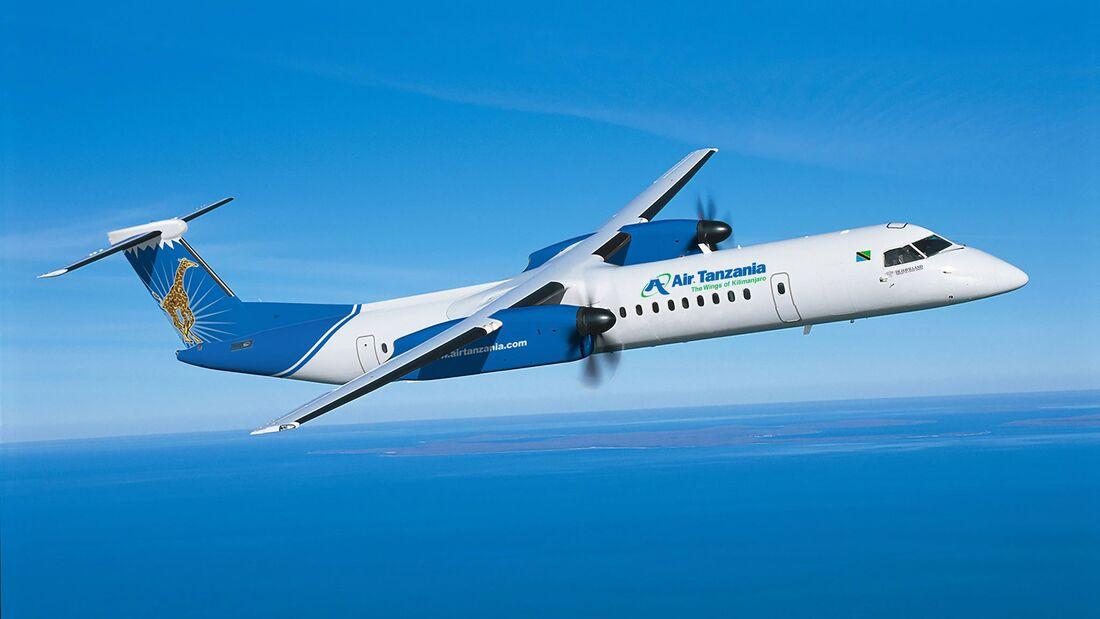 Dash 8-400 für Air Tanzania